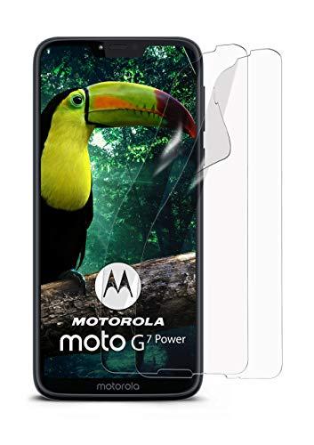 MoEx® Kristallklare HD Schutzfolie passend für Motorola Moto G7 Power | Premium Bildschirmfolie - Kratzfest & Fast unsichtbar - Ultra Klar