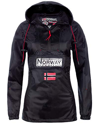 Geographical Norway Downcity Damen Windbreaker Jacke Black S