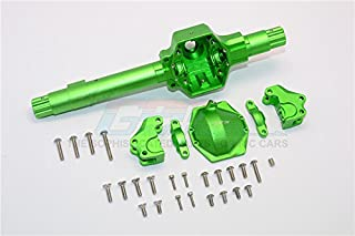 Axial SMT10 Grave Digger (AX90055) Upgrade Parts Aluminum Front Or Rear Axle Housing Assembly (GPM Upgrade Version) - 6Pcs Set Green
