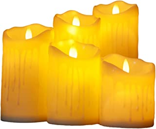 LED Candles Decorative Plastic 5PCS Battery Operated Candle Flameless Candles