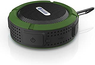 VicTsing Wireless Bluetooth 3.0 Waterproof Outdoor and Shower Speaker Army Green