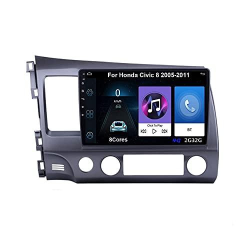 Android Multimedia Radio 9 Pollici Navigazione GPS Auto Android Per Honda Civic 8 2005-2011 Collega E Usa Navigazione GPS Autoradio Bluetooth Mirror Link Del Volante Controllo