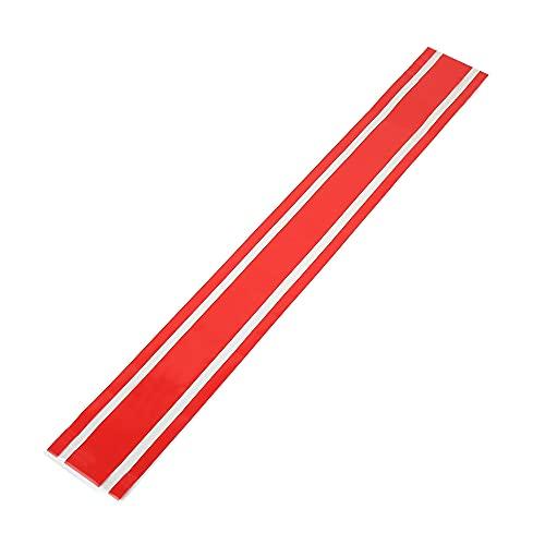 X AUTOHAUX 50.79''x6.30 Coche Capó Raya Pegatina Calcomanía Decoración para Coche Rojo