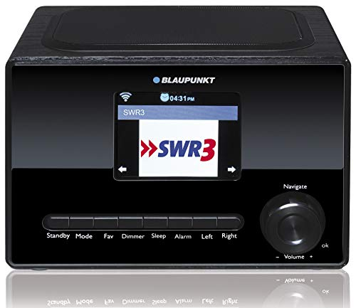 Blaupunkt IRK 1626 Internetradio mit Farbdisplay, WLAN, Küchenradio mit LCD Display 3,2 Zoll, USB, Wecker mit Alarmton, Wettervorhersage, Sleep Timer, Webradio, 3 Watt RMS