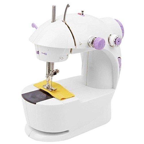 HNESS Multi Electric Mini 4 in 1 Desktop Functional Household Sewing Machine, Mini Sewing Machine, Sewing Machine for Home Tailoring, Mini Sewing Machine for Home (Sewing Machine with Stand)