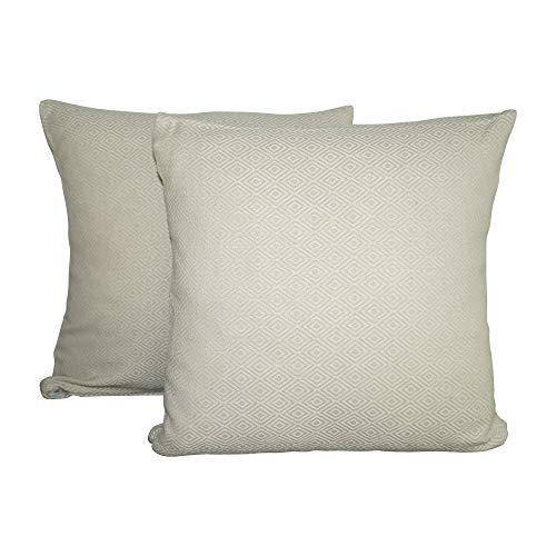 SCN Premium - Fundas de cojín (40 x 40 cm), juego de 2 unidades, algodón, decorativas, modernas, orientales, decorativas, para sofá, cojín lavable (beige, 40 x 40 cm)