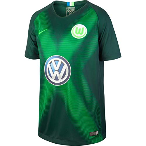 Nike Kinder VFL Wolfsburg Stadium Heim Trikot, Pro Green/Green Strike, XL