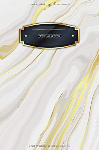 Notizbuch Marmor Design A5 liniert: 124 Seiten - Stilvolles Softcover im Marmor-Look Matt - Besticht