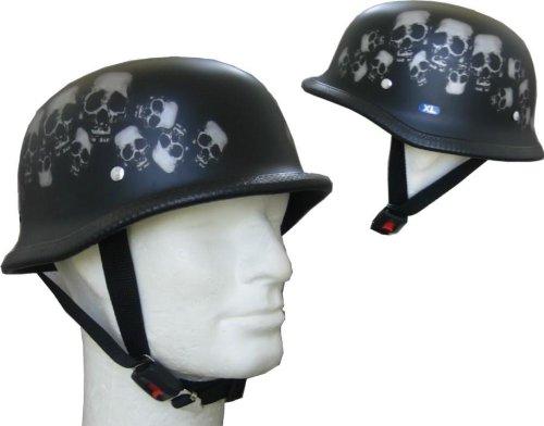 À demi casque de moto en fibre de verre airbrushlackierung \