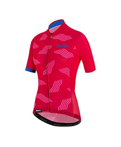 Santini Fahrradbekleidung für Damen, Sommertrikot in Dunenfarben, ROSA, S