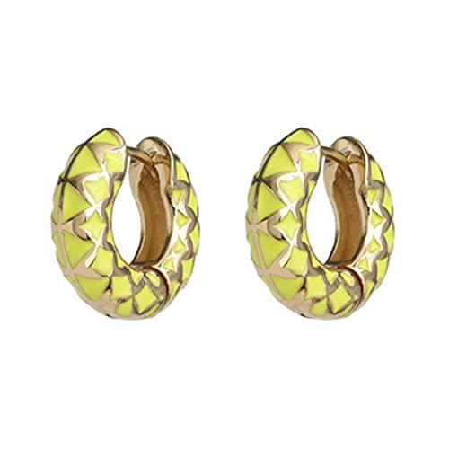 CXWK Pendientes Circulares encantadores Minimalistas de Moda, Pendientes de aro Redondos geométricos de Tendencia para Mujer, niña, Regalo de joyería para Fiesta de Boda