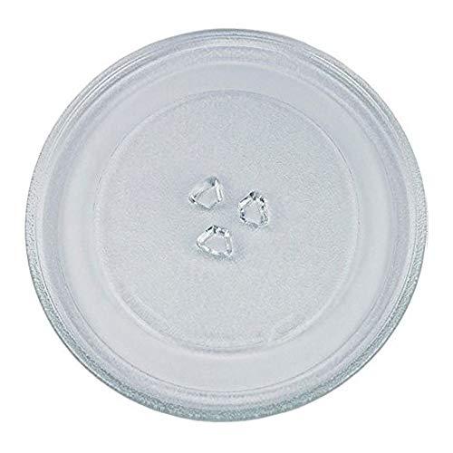 Drehteller für Mikrowelle 27,5 cm Mikrowellenteller 275 mm Glasteller Drehteller Ersatz Teller Glasplatte Glasdrehteller für Mikrowellen