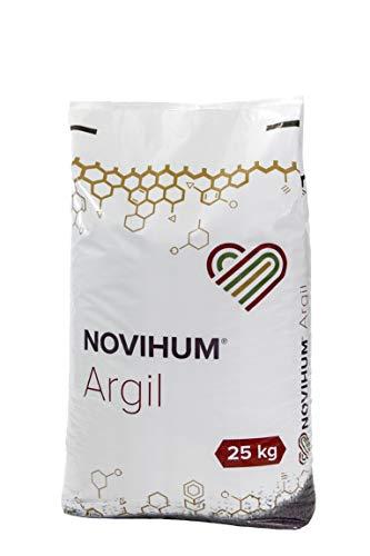 NOVIHUM Argil 25 kg - Bodenaktivator für Gras, Rasen, Bodendecker, Obst- und Ziergehölze, Gemüse, Kräuter, Blumen und kleine Zierpflanzen