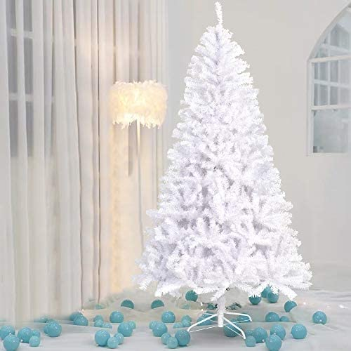 La fete 9FT White Hinged Artificial Christmas Tree Jumbo Pine Xmas Tree with Metal Legs Premium product image