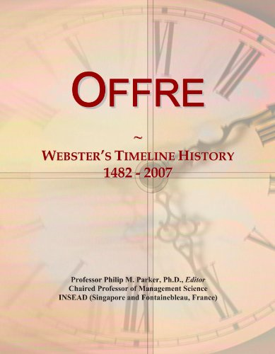 Offre: Websters Timeline History, 1482 - 2007