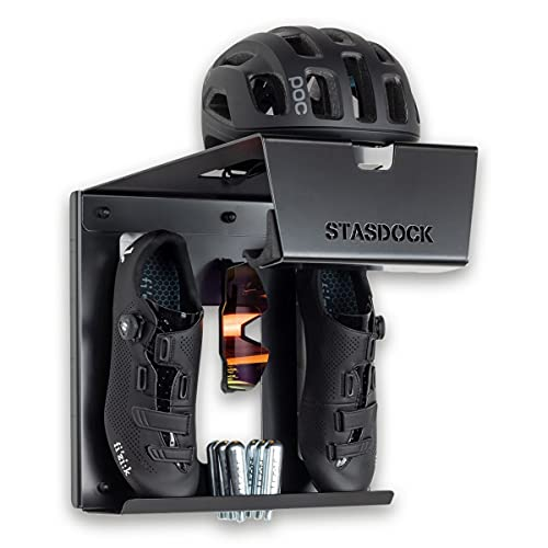 Stasdock Bike Wall Mount - Horizontal Indoor Bike Storage Rack for Garage or Home with Shoes and...