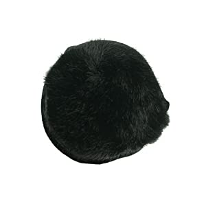 180s Women's Ear Warmers – Vail Faux Fur Black