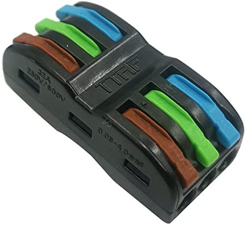 Bloques de conector eléctrico, abrazadera de alambre, bloque de terminales, conector de empalme, conector de terminales de alambre 30/50 / 100pcs Conector de cableado eléctrico Conectores de alambre d