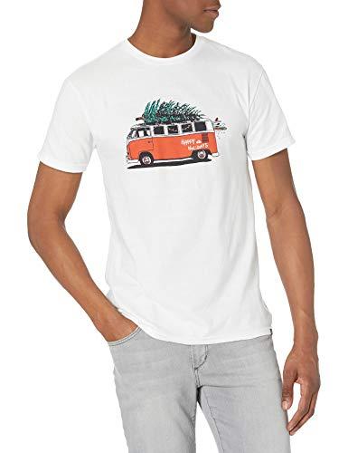 Quiksilver Men's Xmas Bus TEE, White, XXL