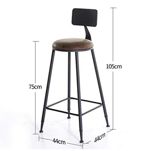 NYDZ Industriële bartafel van massief hout van Vento Solide van ijzer, minimalistisch, moderne kruk Alto bar tafel en stoel