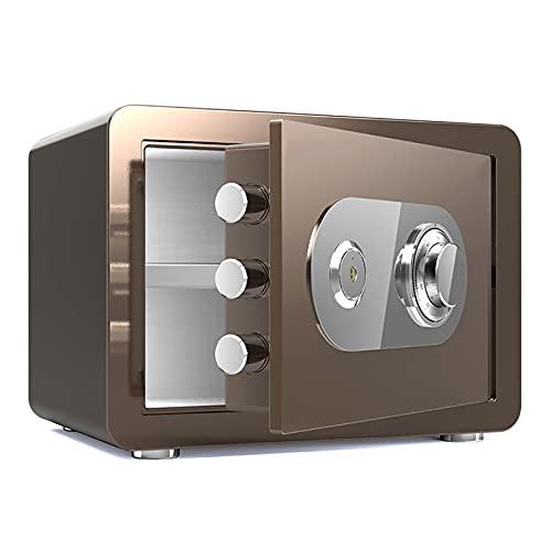 VIY Caja Fuerte Impermeable a Prueba de Fuego con combinación de dial, Cajas Fuertes de Fuego,Marrón
