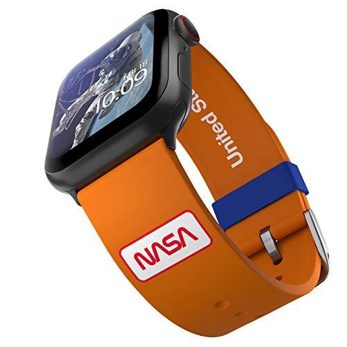 NASA – Space Suits Edition – Offiziell lizenziertes Silikon Smartwatch-Armband kompatibel mit Apple Watch, passend für 38 mm, 40 mm, 42 mm und 44 mm