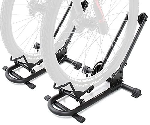 2 x BIKEHAND Bicycle Floor Type Parking Rack Stand - for Mountain and Road Bike Indoor Outdoor Nook Garage Storage
