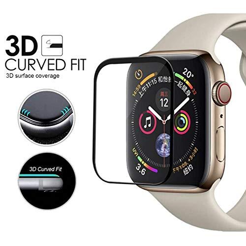 Pellicola Vetro Temperato per Apple Watch 44mm Series 4, Weideworld 3D Full Coverage Pellicola Protettiva per Apple Watch 44mm, Durezza 9H,Anti-riflesso,Ultra-Clear