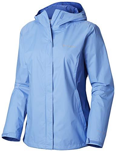 Columbia Damen Arcadia II Jacket Regenjacke, Weiße Kappe/arktis-blau, X-Small