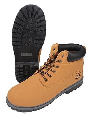 Emanhu Trading Route 66 Freizeit-Boots vers. Farben Boots Stiefel Halbstiefel Schuhe Winterschuhe (39, Beige)
