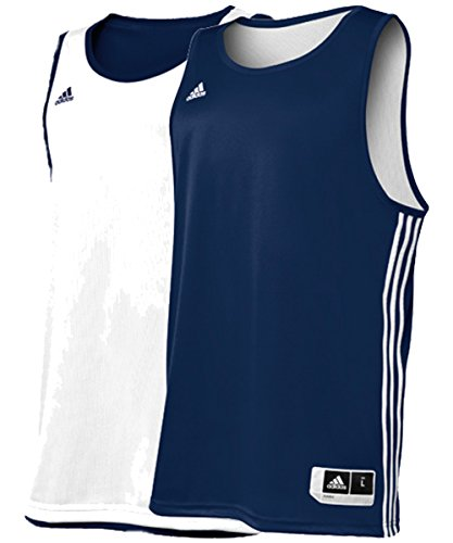 Adidas Mens Reversible Basketball Practice Jersey M Navy/White