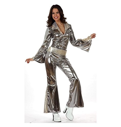 Atosa-10443 Disfraz Disco, color plateado, XL (10443)