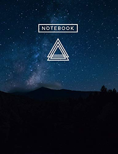 Aesthetic Art Journaling: Light Weight Mountain Hiking Composition Book | 150 Unlined/Drawing Pages | Dark Mountain Magic