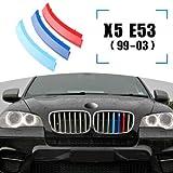 Inserti per griglia a clip per griglia compatibile con X5 E53 1999-2003 8 griglie travi bar M Power Sport Tech Performance Styling Tuning