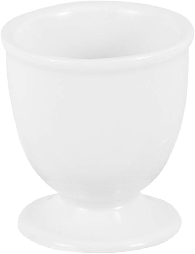 DOITOOL Dedication 3pcs Porcelain Egg Cups White Quantity limited Ceramic Holders Stand