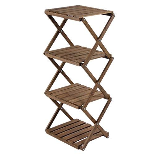 Étagères de rangement de salon intérieur en bois massif de style japonais étagères étagères minimaliste pliantes
