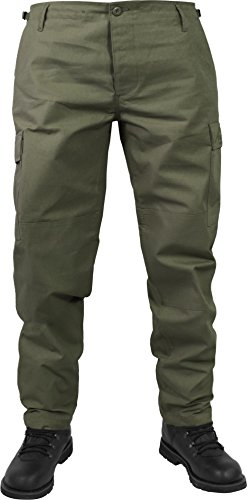 normani US Herren BDU Feldhose aus robustem Ripstop Material Farbe Oliv Größe XL