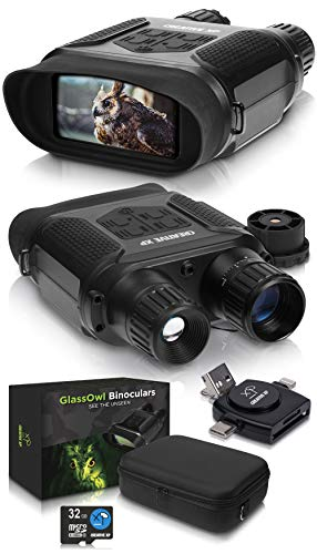 CREATIVE XP Digital Night Vision Binoculars for Complete Darkness - GlassOwl Infrared Night Vision Goggles for Hunting, Spy and Surveillance