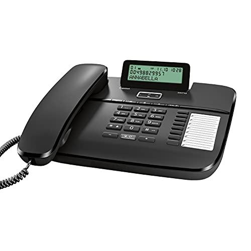 Gigaset DA710 - Schnurgebundenes Telefon mit klappbarem Display - Freisprechfunktion - Anrufanzeige - Telefonbuch - Direktwahltasten - Headset-Anschluss - Anrufanzeige, schwarz