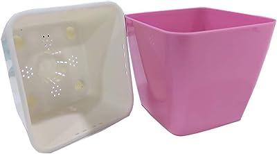Montyybucks Inc Self Watering Planter Pot for Kids Red