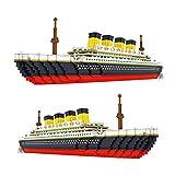 FHDD 3800pcs + Bloques de construcción de partículas pequeñas 60 cm Tamaño Grande Crucero Modelo 3D Mini Ladrillos Juguetes para niños Regalos