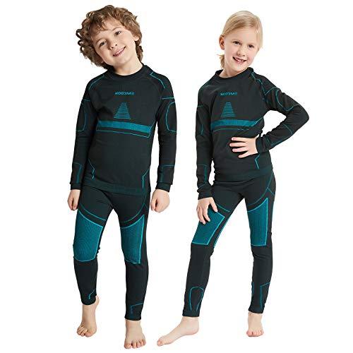 NOOYME Funktionsunterwäsche Kinder Skiunterwäsche Kinder Thermounterwäsche Kinder Atmungsaktiv & Hautfreundlich Sportunterwäsche Kinder Fussball