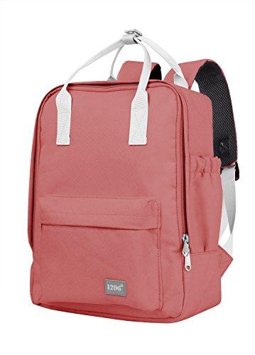 blnbag U3 - kleiner Rucksack mit Fronttasche, kleines Handgepäck Backpack für Ryanair, leichter Tagesrucksack, Daypack Damen und Herren, 10 Liter, Korallrot