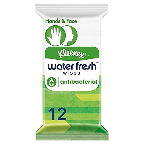 Kleenex Water Fresh Wipes Antibacterial Lingettes 12 1 Unité