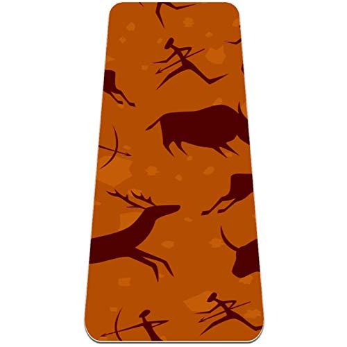 Alfombra de yoga plegable 6 mm de grosor de espesor de yoga de viaje sin deslizamiento y alfombra de entrenamiento de ejercicio ligero suave for patatas de yoga y fitness (72 'x 24' x 6mm) Pintura de