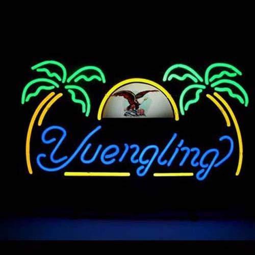 Yuengling Palm Tree Handmade Glass Neon Sign 43 x 33 cm Ship from USA