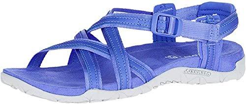 Merrell Women's Terran Ari Lattice Sport Sandal, Baja Blue, 10 Medium US