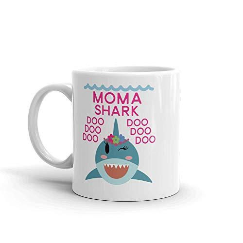 Shark Moma Einzigartige Keramik Kaffeetasse / Tasse & mdash; Geburtstag Muttertag für Mutter Mutter Oma