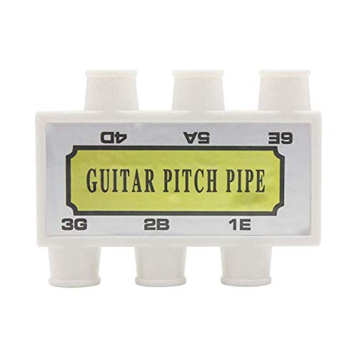 Leililia Tuner Acoustic Guitar String Tuning Plastic Guitar Pitch Pipe White Pitch Pipe