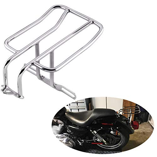 SMT-Chrome Steel Rear Fender Rack Plated Luggage Shelf Compatible With H-D Sportster 1100 1000 Roadster 1200 Roadster Nightster 883 Iron SuperLow [B0175JIYVK]